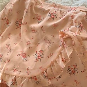 Loft Outlet Pink Chiffon Wrap Skirt new with tags